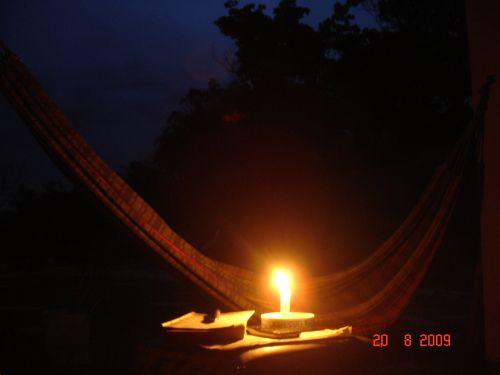 A luz de vela